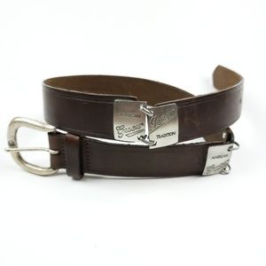 Vintage Guess Jeans Brown Leather Belt size L